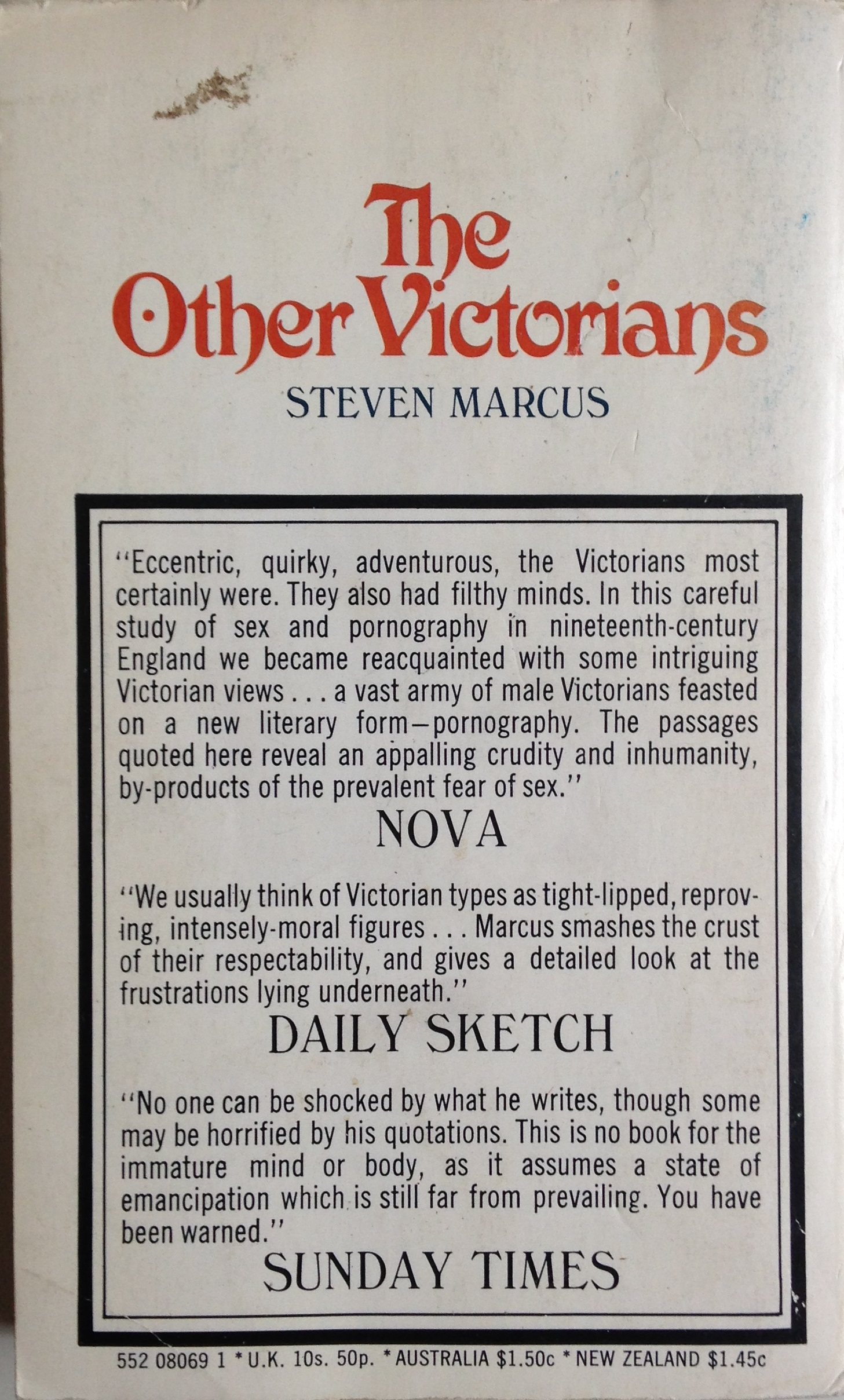 The Other Victorians back cover