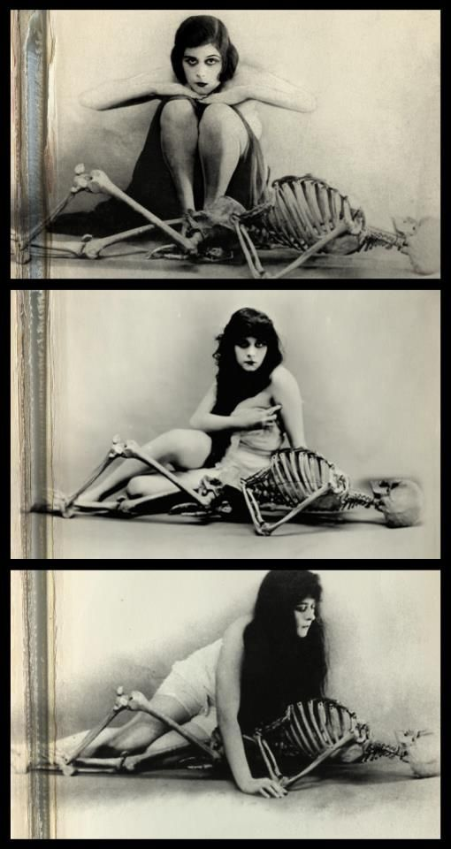 A series of publicity shots from  A Fool There Was (1915). My World Photography Classic is the upper shot.